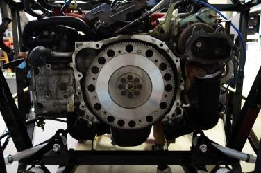 Flywheel installed.