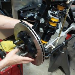 Remove the brake rotor.