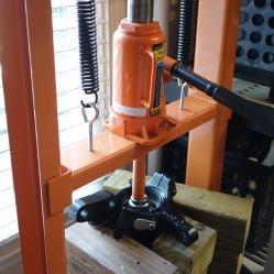 Twelve-ton press set-up.